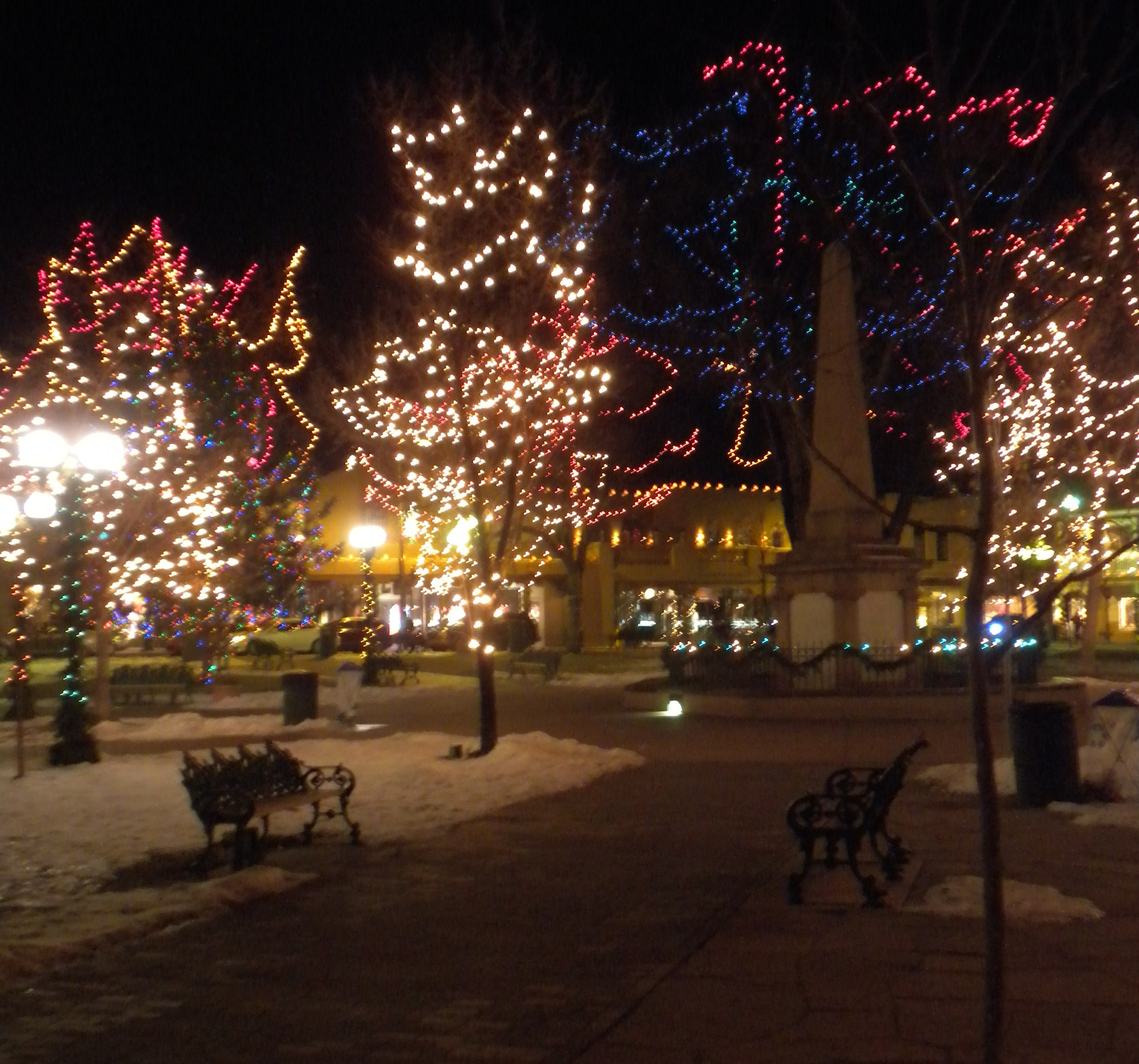 More lights on the Plaza