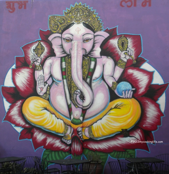Mural at a local ayurvedic cafe.
