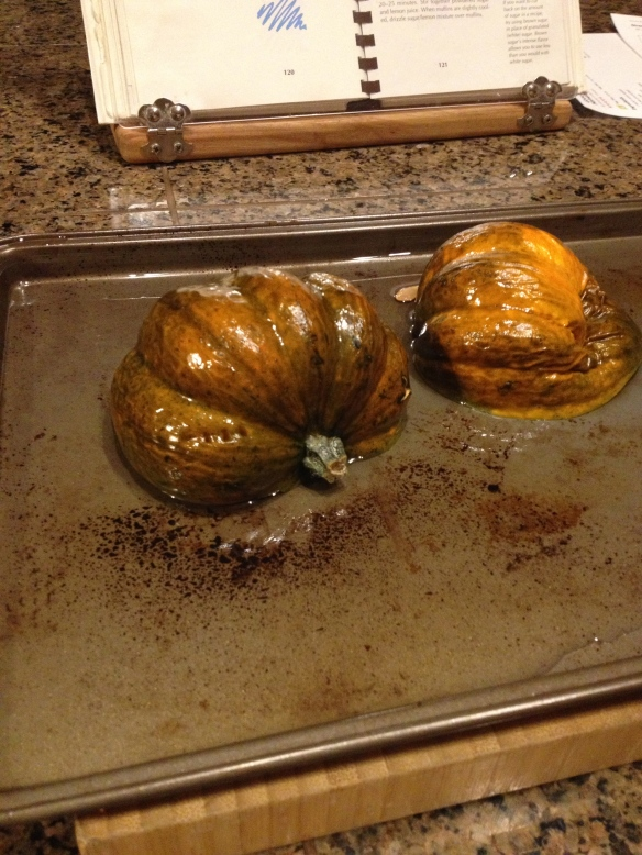 Acorn Squash fresh from the oven.  Brian Pinkowski