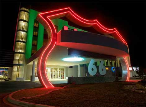 You can get your kicks at Route 66 Casino & Hotel