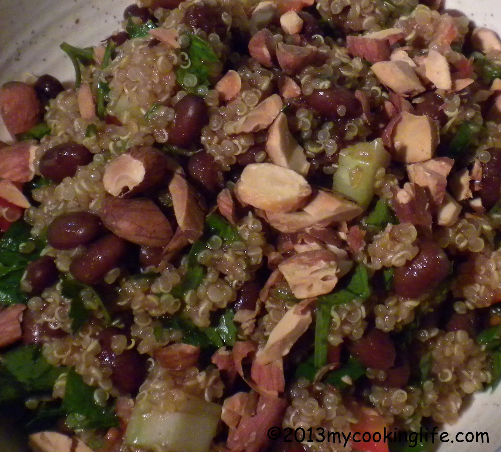 How about some red beans? They do wonders for this quinoa dish.