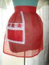 RED SHEER APRON