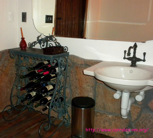 wine in the bathroom