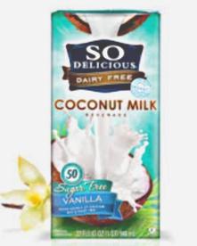 so delicious PAINT sugar free cocunut milk